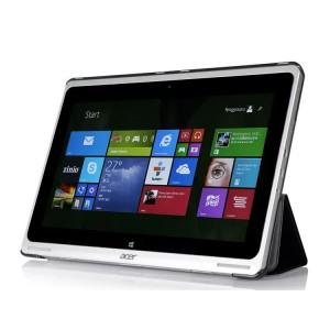 Чехол флип подставка сегментарный текстура Джинс на поликарбонатной основе для Acer Aspire Switch 10