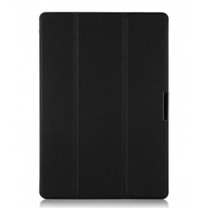Чехол флип подставка сегментарный текстура Джинс на поликарбонатной основе для Acer Aspire Switch 10 Черный