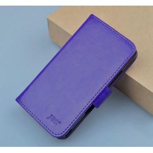 Чехол портмоне подставка с магнитной застежкой для Explay Craft Фиолетовый