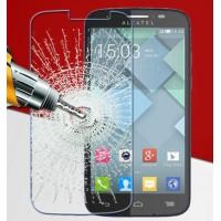 Ультратонкое износоустойчивое сколостойкое олеофобное защитное стекло-пленка для Alcatel One Touch Pop C7