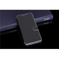 Чехол флип подставка с отделениями для карт на пластиковой основе ля Alcatel One Touch Pop 2 (5) Premium Черный