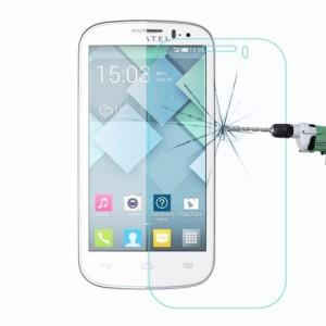 Ультратонкое износоустойчивое сколостойкое олеофобное защитное стекло-пленка для Alcatel One Touch Pop C5