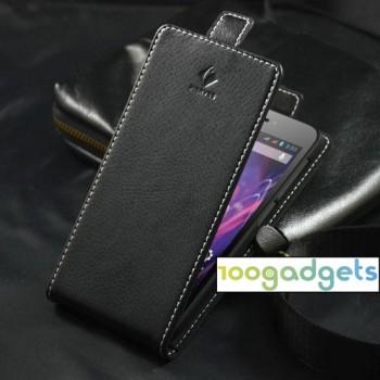 Кожаный чехол вертикальная книжка на пластиковой основе с магнитной застежкой для Explay 4Game