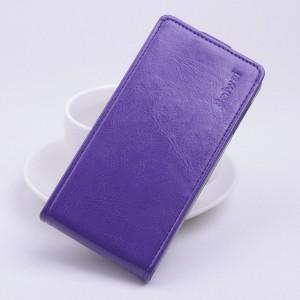 Чехол вертикальная книжка на клеевой основе с магнитной застежкой для Highscreen Thor Фиолетовый
