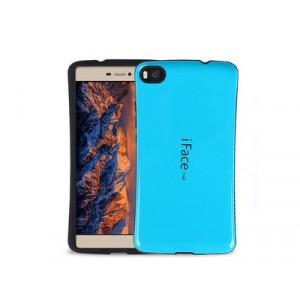 Силиконовый эргономичный непрозрачный чехол с нескользящими гранями для Huawei P8 Lite Голубой