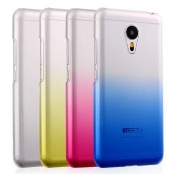 Пластиковый градиентный полупрозрачный чехол для Meizu MX5