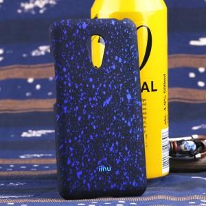 Пластиковый матовый дизайнерский чехол с голографическим принтом Звезды для Meizu MX5 Синий
