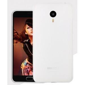 Силиконовый матовый полупрозрачный чехол для Meizu MX5 Белый
