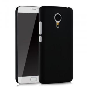 Пластиковый матовый непрозрачный чехол для Meizu MX5 Черный