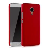 Пластиковый матовый непрозрачный чехол для Meizu MX5 Красный