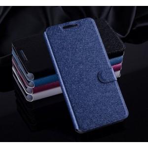 Текстурный чехол флип подставка на силиконовой основе с магнитной застежкой и внутренними карманами для HTC Desire 626/628