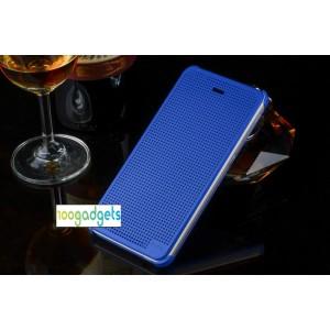 Точечный чехол смарт флип с функциями оповещения для HTC Desire 626/628 Синий
