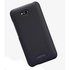 Пластиковый премиум матовый чехол для HTC Desire 616 Черный