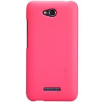 Пластиковый премиум матовый чехол для HTC Desire 616 Пурпурный