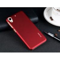 Пластиковый матовый металлик чехол для HTC Desire 626/628 Красный