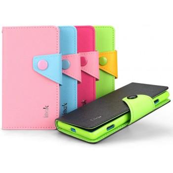 Двуцветный чехол-портмоне с кнопочной застежкой для Nokia Lumia 720