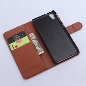 Чехол портмоне подставка с защелкой для HTC Desire 626/628 Коричневый
