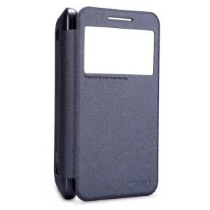 Чехол флип с окном вызова для HTC Desire 616 Черный