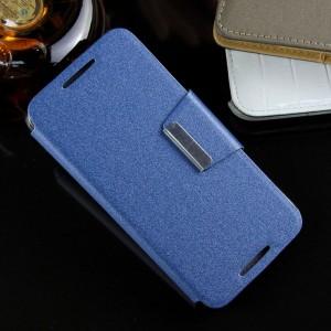 Текстурный чехол флип подставка с дизайнерской магнитной застежкой на силиконовой нескользящей основе HTC Desire 626/628