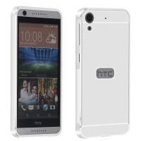 Двухкомпонентный чехол с металлическим бампером и поликарбонатной накладкой для HTC Desire 626/628 Белый