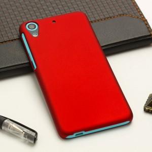 Пластиковый матовый непрозрачный чехол для HTC Desire 626/628 Красный