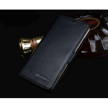 Кожаный чехол портмоне подставка (нат. кожа) для Meizu MX5