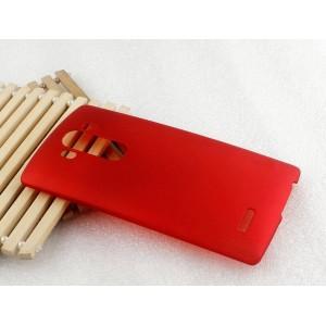 Пластиковый матовый непрозрачный чехол для LG G4 S Красный