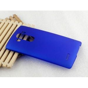 Пластиковый матовый непрозрачный чехол для LG G4 S Синий