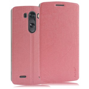 Текстурный чехол флип подставка на присоске для LG G4 S Розовый