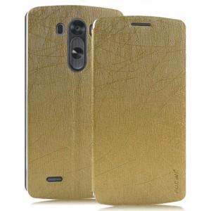 Текстурный чехол флип подставка на присоске для LG G4 S Бежевый