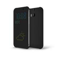 Точечный чехол смарт флип с функциями оповещения для HTC One M8 Черный