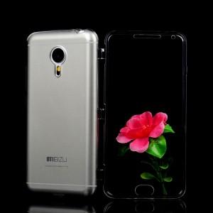 Двухмодульный силиконовый чехол горизонтальная книжка с транспарентной акриловой смарт крышкой для Meizu MX5 Белый