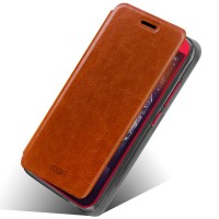 Чехол флип подставка водоотталкивающий для HTC Desire 616 Коричневый