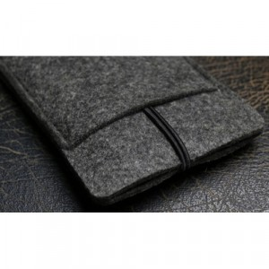 Универсальный дизайнерский чехол-мешок из войлока для Meizu MX5 Черный