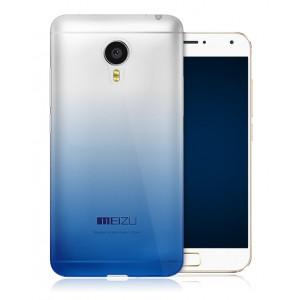 Силиконовый градиентный полупрозрачный чехол для Meizu MX5 Синий