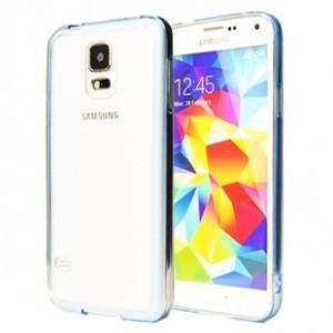 Двухкомпонентный гибридный чехол с силиконовым бампером и транспарентной матовой накладкой для Samsung Galaxy S5