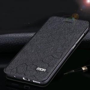 Текстурный узорный чехол флип подставка на силиконовой основе для Meizu MX5 Черный