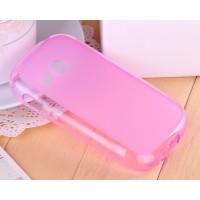 Силиконовый полупрозрачный чехол для Samsung Galaxy Fame Lite Розовый