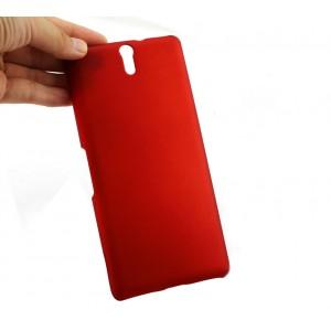 Пластиковый матовый грязестойкий чехол для Sony Xperia C5 Ultra Dual