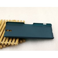Пластиковый матовый грязестойкий чехол для Sony Xperia C5 Ultra Dual Зеленый