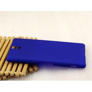 Пластиковый матовый грязестойкий чехол для Sony Xperia C5 Ultra Dual Синий