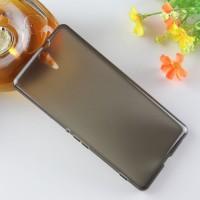 Силиконовый матовый ультратонкий полупрозрачный чехол для Sony Xperia C5 Ultra Dual Черный