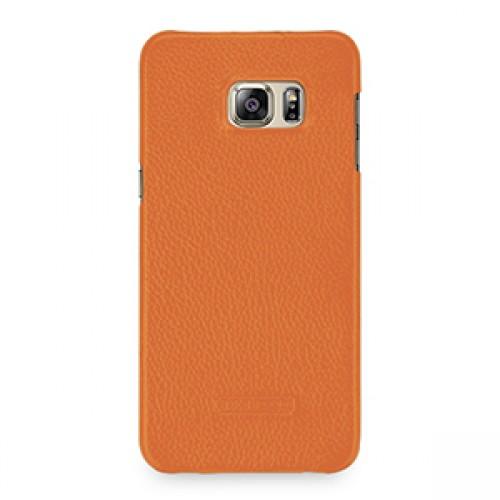 Кожаный чехол накладка (нат. кожа) серия Back Cover для Samsung Galaxy S6 Edge Plus