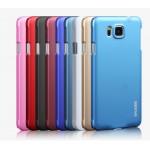 Пластиковый матовый металлик чехол для Samsung Galaxy Alpha