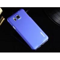 Пластиковый матовый металлик чехол для Samsung Galaxy Alpha Фиолетовый