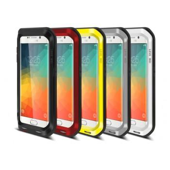 Ультрапротекторный пылевлагозащитный ударостойкий чехол металл/силикон/поликарбонат для Samsung Galaxy S6 Edge Plus