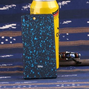 Пластиковый матовый чехол с голографическим принтом Звезды для Sony Xperia M5