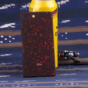 Пластиковый матовый чехол с голографическим принтом Звезды для Sony Xperia M5 Красный