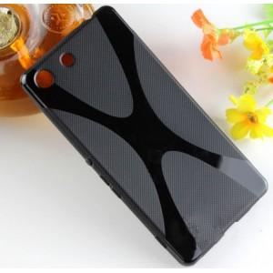 Силиконовый X чехол для Sony Xperia M5 Черный