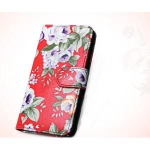 Чехол флип подставка с полноповерхностным принтом, магнитной застежкой и внутренними карманами для Sony Xperia M5
